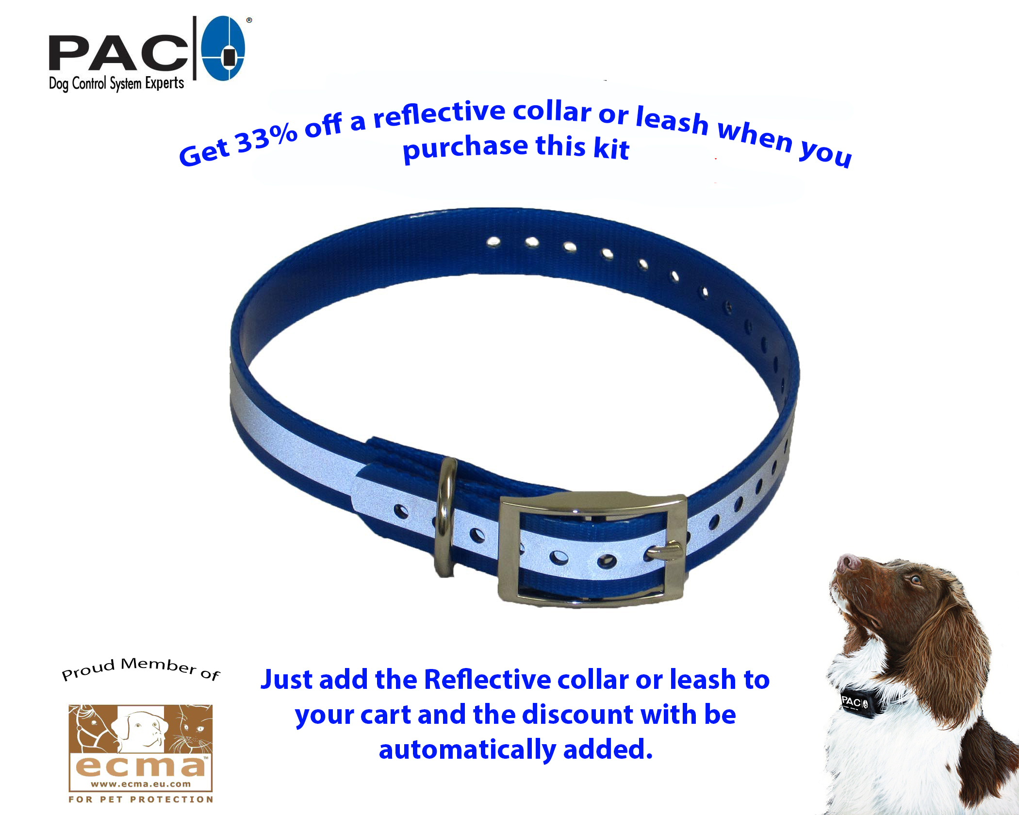 Reflective collar deal when buying a PAC Kit or Fence system